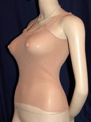 Vintage BNIB Camisole Vest Top by LUX LUX- Sheer Stretch Nylon