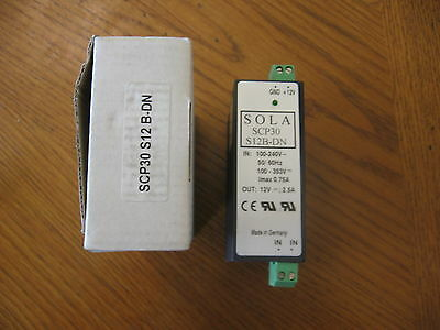 NEW Sola DC power supply SCP30S12B-DN 12vdc