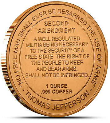 2nd Amendment Design ** 20 Coins ** 1 oz each .999 Fine Copper Bullion