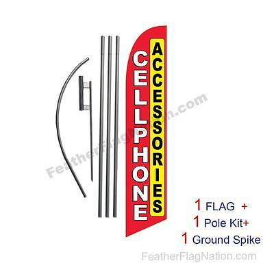 Cellphone Accessories Feather Banner Swooper Flag Kit with pole+spike