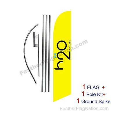 h2o Wireless Wireless Feather Banner Swooper Flag Kit with pole+spike