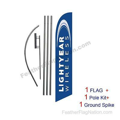 Lightyear Wireless Feather Banner Swooper Flag Kit with pole+spike