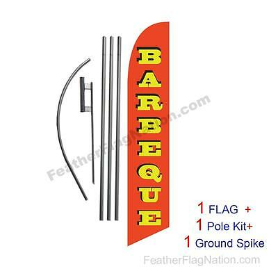 BarBeQue BBQ Feather Banner Swooper Flag Kit with pole+spike