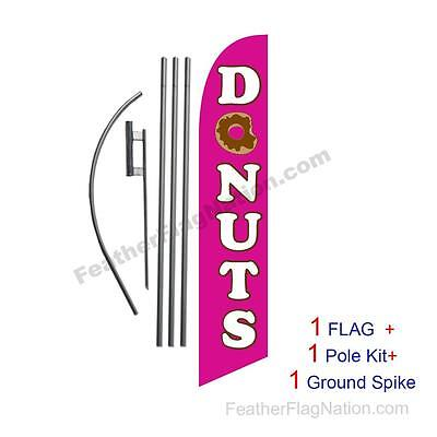 Donuts Feather Banner Swooper Flag Kit with pole+spike
