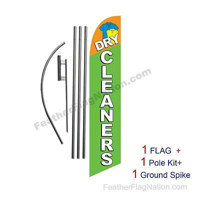 Dry Cleaners Feather Banner Swooper Flag Kit with pole+spike