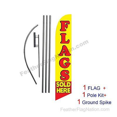 Flags Sold Here Feather Banner Swooper Flag Kit with pole+spike