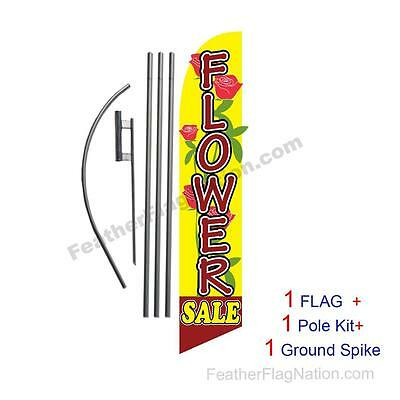 Fancy Flower Sale Feather Banner Swooper Flag Kit with pole+spike
