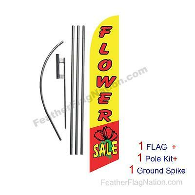 Flower Sale Feather Banner Swooper Flag Kit with pole+spike
