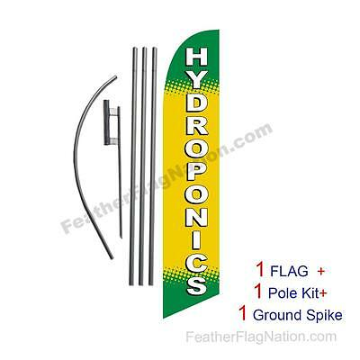 Hydroponics Feather Banner Swooper Flag Kit with pole+spike