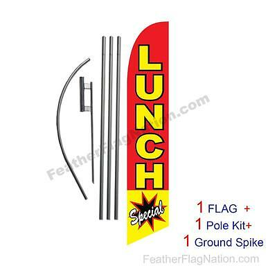 Lunch Special 15' Feather Banner Swooper Flag Kit with pole+spike