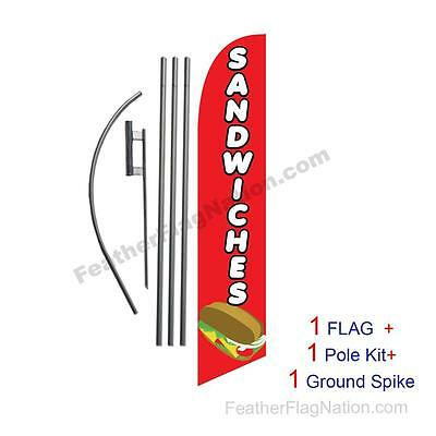 Sandwiches 15' Feather Banner Swooper Flag Kit with pole+spike