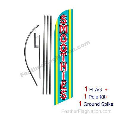 Smoothies 15' Feather Banner Swooper Flag Kit with pole+spike