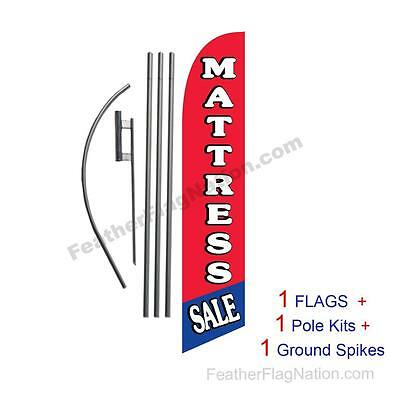 Red Blue Mattress Sale 15' Feather Banner Swooper Flag Kit with pole+spike