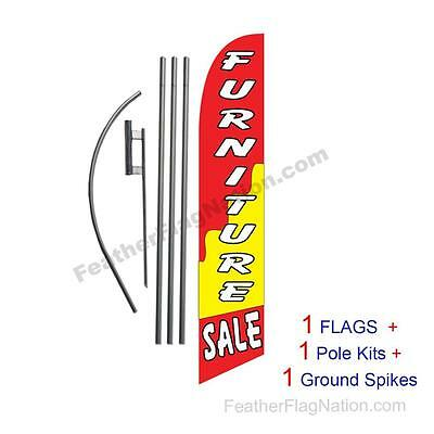 Furniture Sale 15' Feather Banner Swooper Flag Kit with pole+spike