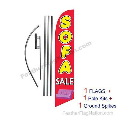 Sofa Sale 15' Feather Banner Swooper Flag Kit with pole+spike