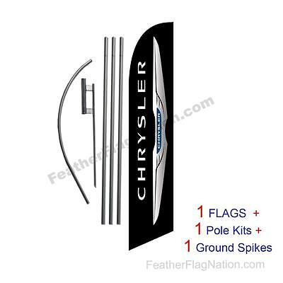 Custom Chrysler 15' Feather Banner Swooper Flag Kit with pole+spike
