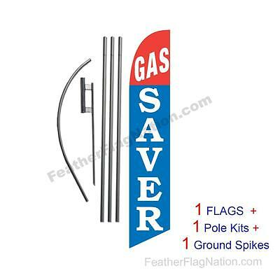 Gas Saver 15' Feather Banner Swooper Flag Kit with pole+spike