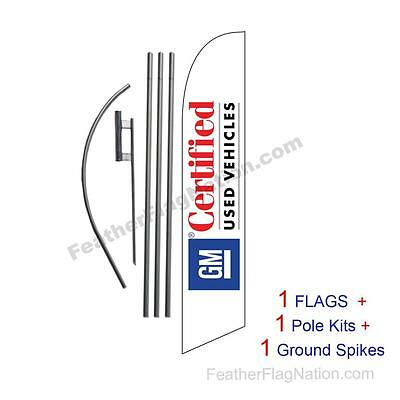 Custom GM CPO 15' Feather Banner Swooper Flag Kit with pole+spike