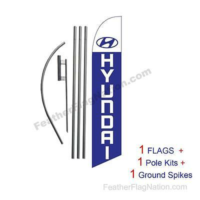 Hyundai 15' Feather Banner Swooper Flag Kit with pole+spike