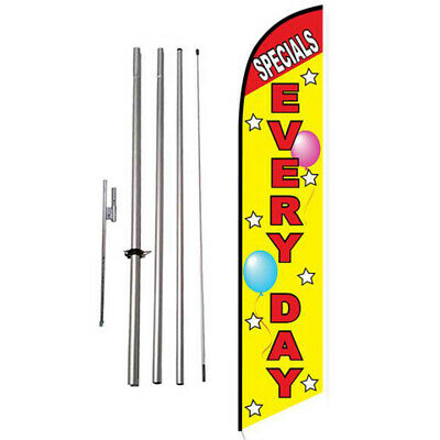 Specials Everyday 15' Feather Banner Swooper Flag Kit with pole+spike