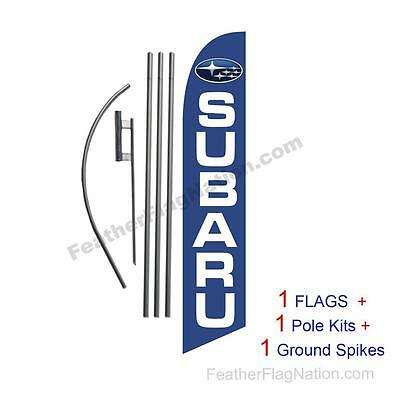 Custom Subaru 15' Feather Banner Swooper Flag Kit with pole+spike