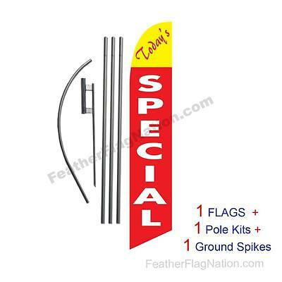Todays Special 15' Feather Banner Swooper Flag Kit with pole+spike