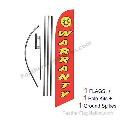 Warranty 15' Feather Banner Swooper Flag Kit with pole+spike