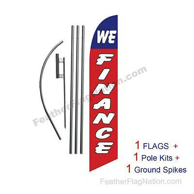 We Finance 15' Feather Banner Swooper Flag Kit with pole+spike