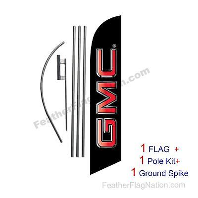 Custom GMC 15' Feather Banner Swooper Flag Kit with pole+spike  (music)