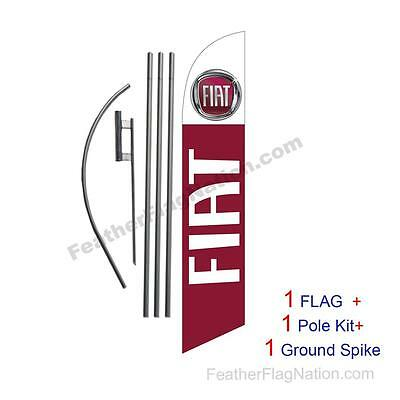 Custom FIAT 15' Feather Banner Swooper Flag Kit with pole+spike  (music)