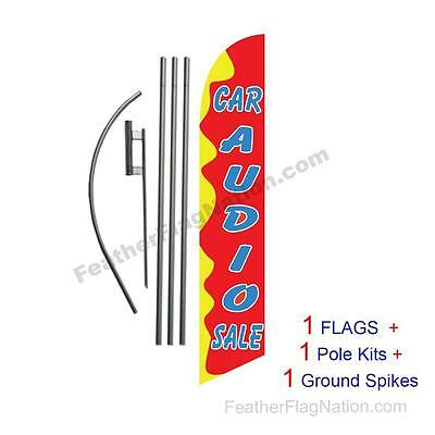 Car Audio Sale 15' Feather Banner Swooper Flag Kit with pole+spike