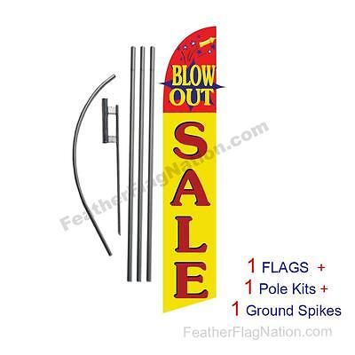 Blowout Sale15' Feather Banner Swooper Flag Kit with pole+spike