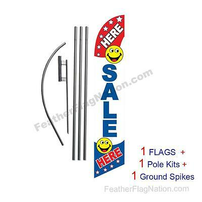 SALE Here 15' Feather Banner Swooper Flag Kit with pole+spike