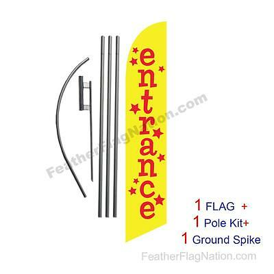 Entrance 15ft Feather Banner Swooper Flag Kit with pole+spike