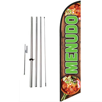 MENUDO 15ft Feather Banner Swooper Flag Kit with pole+spike