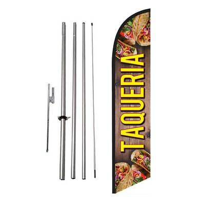 Taqueria 15ft Feather Banner Swooper Flag Kit with pole+spike
