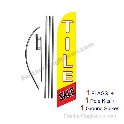 Tile Sale 15ft Feather Banner Swooper Flag Kit with pole+spike
