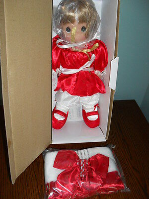 "15"" PRECIOUS MOMENTS CHRISTMAS STOCKING Porcelain DOLL Mint in Box #4098"