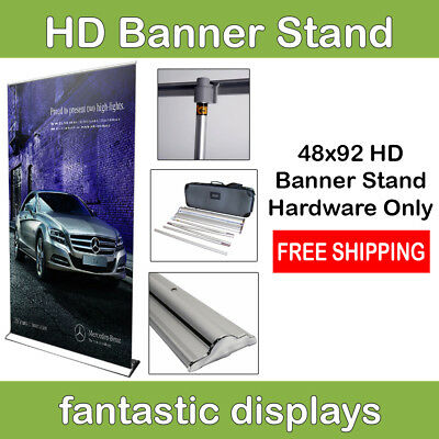 "48"" Retractable Banner Stand Pro HD Roll Up Display Trade Show Booth HARDWARE"