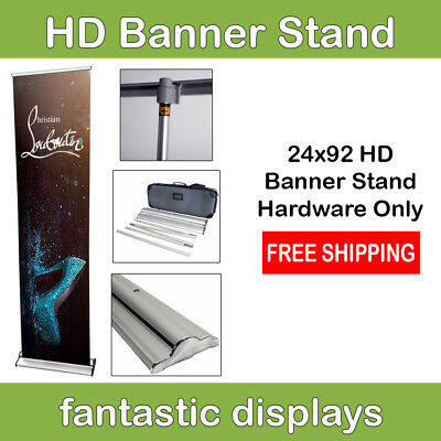 "24"" Pro Line Banner Stand - Holds 85"" to 92"" Tall Banners"