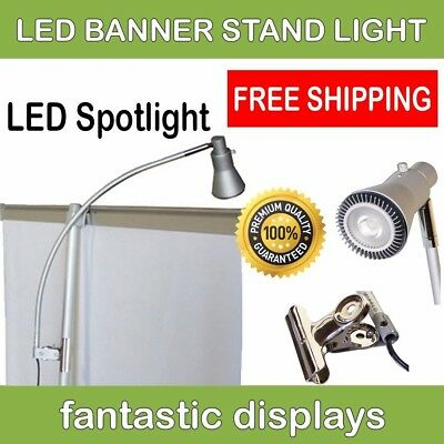 LED Banner Stand Light Spotlight for Roll Up Tradeshow Displays - BRIGHT 3W