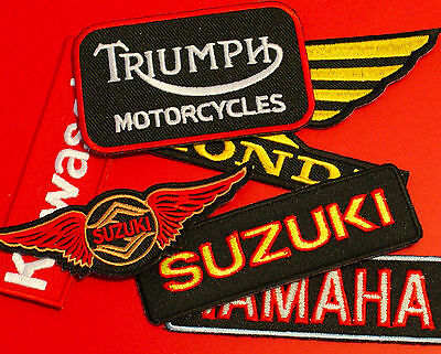 Motorcycle Brand Patches - EMBROIDERED - dirtbike ratbike brat metric scrambler