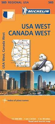 USA West Canada West by Michelin Editions des Voyages (Sheet map, folded, 2013)