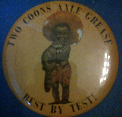 TWO COONS AXLE GREASE 3 INCH PINBACK BUTTON