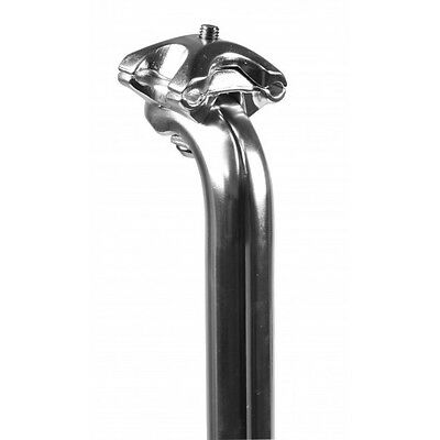 Kalloy SP248 alloy silver 400mm seatpost 25.0mm to 31.8 in 0.2mm increments.
