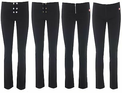 MISS SKINNY girls black stretch hipster skinny sexy school trousers  sizes 6-14