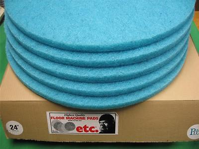 "5 Etc Aqua Plus Burnishing Pads 24"" Floor Machine Scrubber Polishing Burnisher"