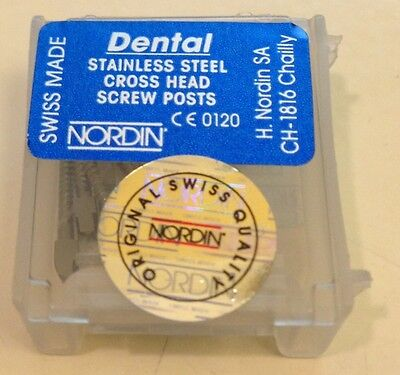 Dental Stainless Steel Screw Posts Cross Head M1 12 pieces Refill kit NORDIN