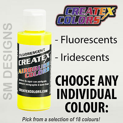 Airbrush Paint - Createx Airbrush Colors 60ml Fluorescent, Iridescent