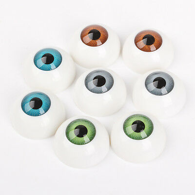 8PCS 26mm Half Round Acrylic Doll Bear Craft Plastic Eyes Eyeball DIY